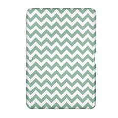 Jade Green And White Zigzag Samsung Galaxy Tab 2 (10.1 ) P5100 Hardshell Case