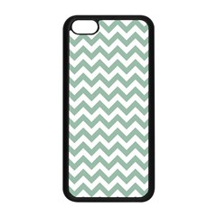 Jade Green And White Zigzag Apple iPhone 5C Seamless Case (Black)