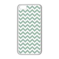 Jade Green And White Zigzag Apple iPhone 5C Seamless Case (White)