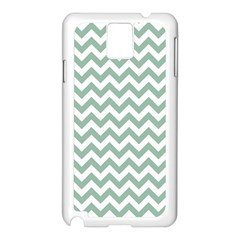 Jade Green And White Zigzag Samsung Galaxy Note 3 N9005 Case (white)