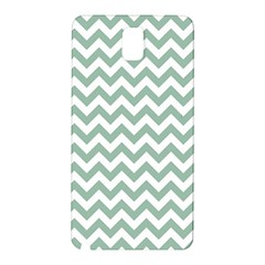 Jade Green And White Zigzag Samsung Galaxy Note 3 N9005 Hardshell Back Case
