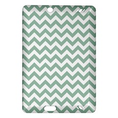 Jade Green And White Zigzag Kindle Fire Hd 7  (2nd Gen) Hardshell Case