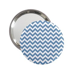 Blue And White Zigzag Handbag Mirror (2 25 )