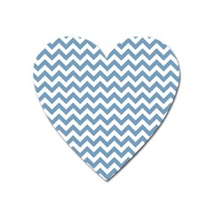 Blue And White Zigzag Magnet (heart)