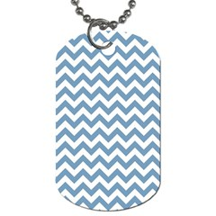 Blue And White Zigzag Dog Tag (One Sided)