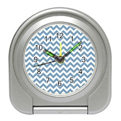 Blue And White Zigzag Desk Alarm Clock