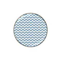 Blue And White Zigzag Golf Ball Marker 4 Pack (for Hat Clip)