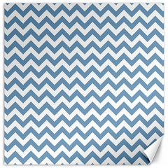 Blue And White Zigzag Canvas 12  x 12  (Unframed)