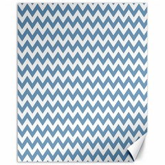 Blue And White Zigzag Canvas 16  x 20  (Unframed)