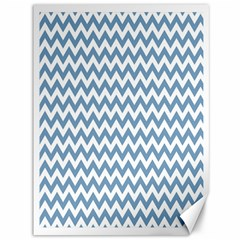 Blue And White Zigzag Canvas 36  x 48  (Unframed)