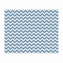 Blue And White Zigzag Glasses Cloth (Small, Two Sided)