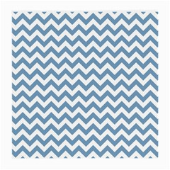 Blue And White Zigzag Glasses Cloth (Medium, Two Sided)