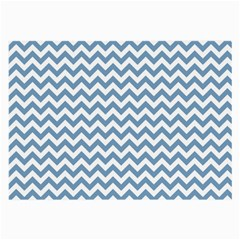 Blue And White Zigzag Glasses Cloth (large, Two Sided)