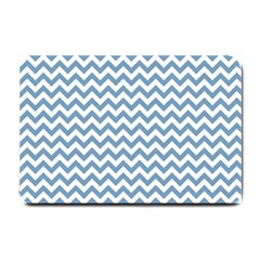 Blue And White Zigzag Small Door Mat
