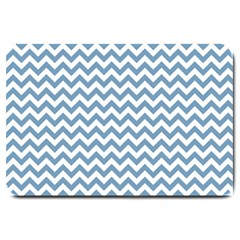 Blue And White Zigzag Large Door Mat