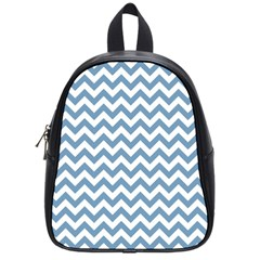 Blue And White Zigzag School Bag (small)