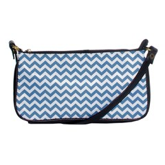 Blue And White Zigzag Evening Bag