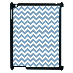 Blue And White Zigzag Apple iPad 2 Case (Black)