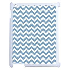 Blue And White Zigzag Apple iPad 2 Case (White)