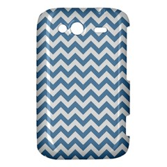 Blue And White Zigzag HTC Wildfire S A510e Hardshell Case