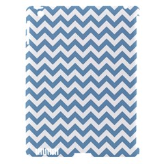 Blue And White Zigzag Apple iPad 3/4 Hardshell Case (Compatible with Smart Cover)
