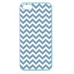 Blue And White Zigzag Apple Seamless Iphone 5 Case (color)