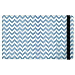 Blue And White Zigzag Apple Ipad 2 Flip Case