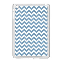 Blue And White Zigzag Apple iPad Mini Case (White)