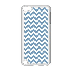 Blue And White Zigzag Apple iPod Touch 5 Case (White)