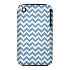 Blue And White Zigzag Apple iPhone 3G/3GS Hardshell Case (PC+Silicone)