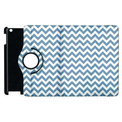 Blue And White Zigzag Apple iPad 2 Flip 360 Case