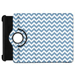 Blue And White Zigzag Kindle Fire Hd 7  (1st Gen) Flip 360 Case