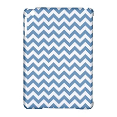 Blue And White Zigzag Apple Ipad Mini Hardshell Case (compatible With Smart Cover)