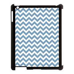 Blue And White Zigzag Apple iPad 3/4 Case (Black)