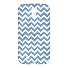 Blue And White Zigzag Samsung Galaxy S4 I9500/I9505 Hardshell Case