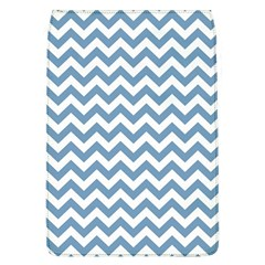 Blue And White Zigzag Removable Flap Cover (large)