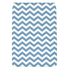 Blue And White Zigzag Removable Flap Cover (small)