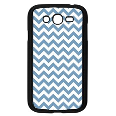 Blue And White Zigzag Samsung Galaxy Grand DUOS I9082 Case (Black)