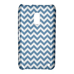 Blue And White Zigzag Nokia Lumia 620 Hardshell Case