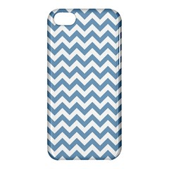 Blue And White Zigzag Apple Iphone 5c Hardshell Case