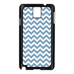Blue And White Zigzag Samsung Galaxy Note 3 N9005 Case (black)
