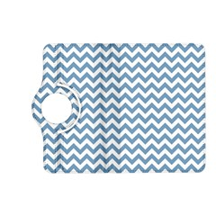 Blue And White Zigzag Kindle Fire HD 7  (2nd Gen) Flip 360 Case
