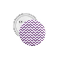 Lilac And White Zigzag 1.75  Button