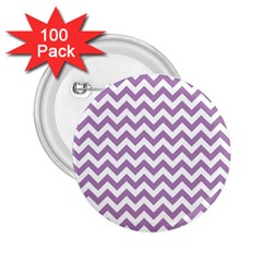Lilac And White Zigzag 2.25  Button (100 pack)
