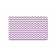 Lilac And White Zigzag Magnet (name Card)