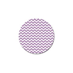 Lilac And White Zigzag Golf Ball Marker