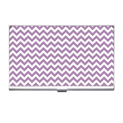 Lilac And White Zigzag Business Card Holder