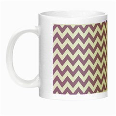 Lilac And White Zigzag Glow in the Dark Mug