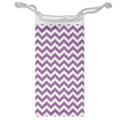Lilac And White Zigzag Jewelry Bag