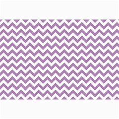 Lilac And White Zigzag Canvas 12  x 18  (Unframed)